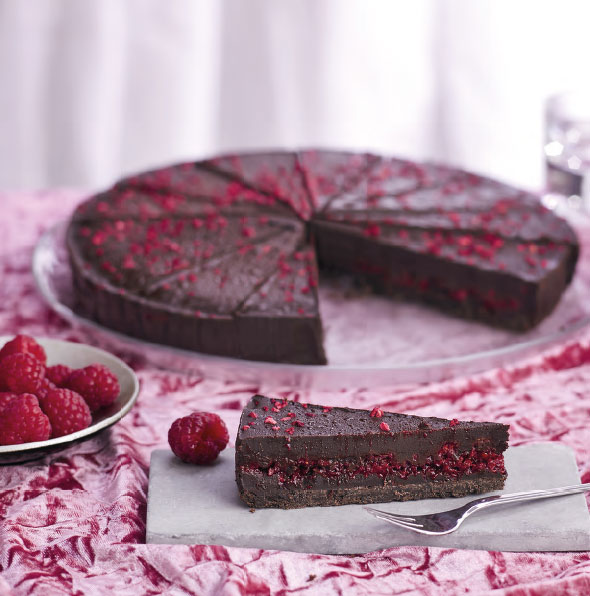 vegan chocolate raspberry cale